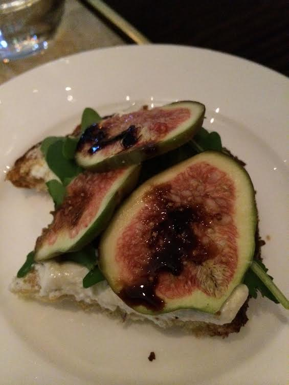 The fig crostini