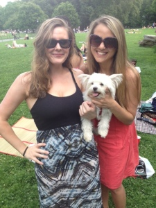 Just hanging out in Central Park with my Auntie J!